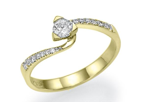 Delicate Twist Diamond Ring