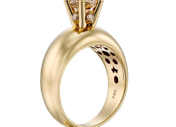 Brown diamonds ring