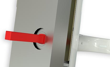 Lock Lock Door Hadles non snap pvc door handles