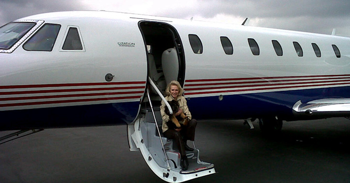 Our puppies are Jet Setters