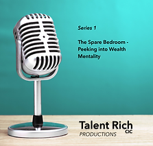 Logo for Talent Rich podcast series 1