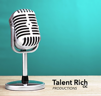 Talent Rich Productions classic microphone on a desk image