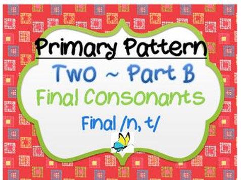 CYCLES: Pattern Two - Final Consonants Part B