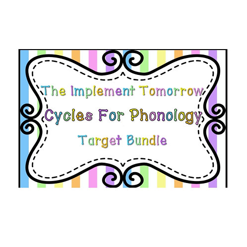 Implement Tomorrow Cycles For Phonology Target Bundle