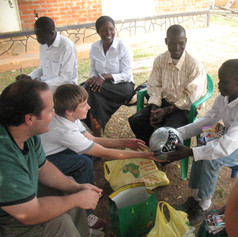 David K Meeting Sponsored Child in Uganda