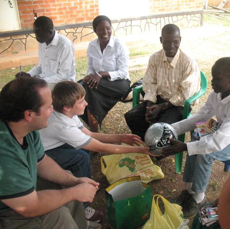 David K Meeting Sponsored Child in Uganda