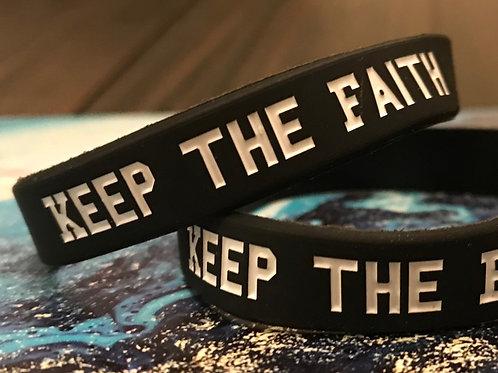 Keep the Faith Wristband: Black