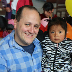 David K with New Friend in Ecuador