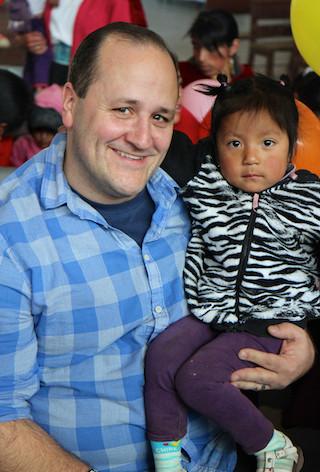 David K with New Friend in Ecuador