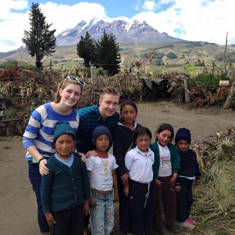 David K's family visiting Ecuador