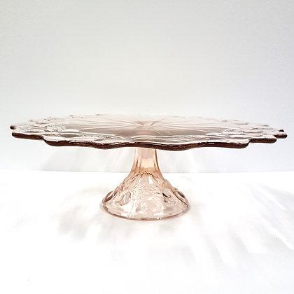 Pink Pedestal Plate