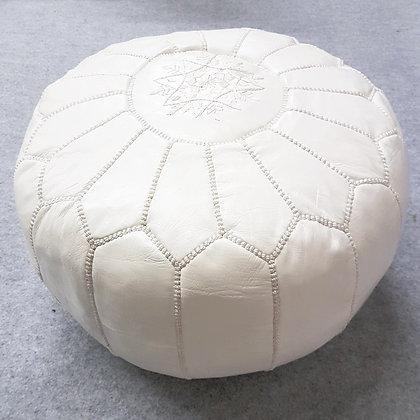 Moroccan Pouf - White