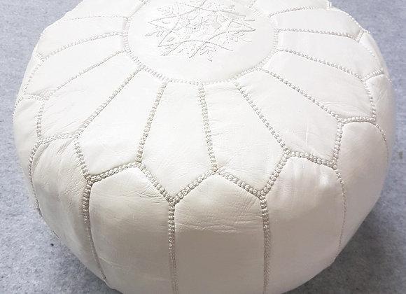 Moroccan Pouf - White (2)