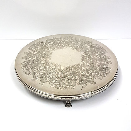 Round Silver Tray 1