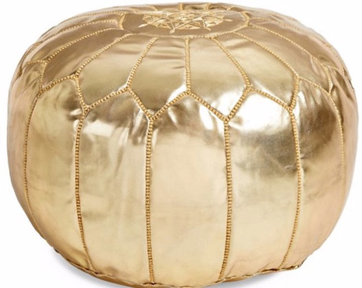 Moroccan Pouf - Gold