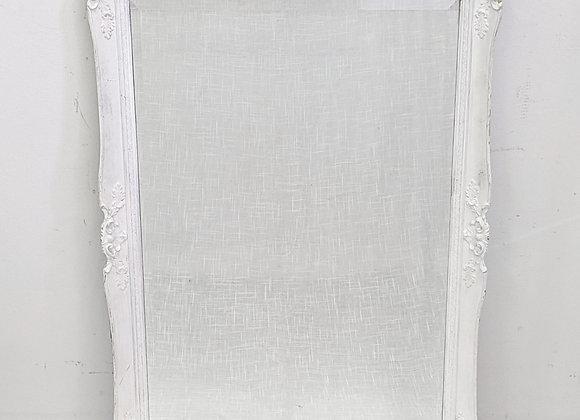 White Framed Mirror