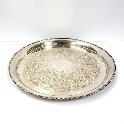 Round Silver Tray 3