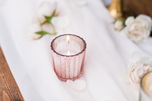 Pink Glass Votives