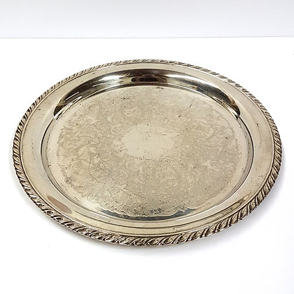 Round Silver Tray 2