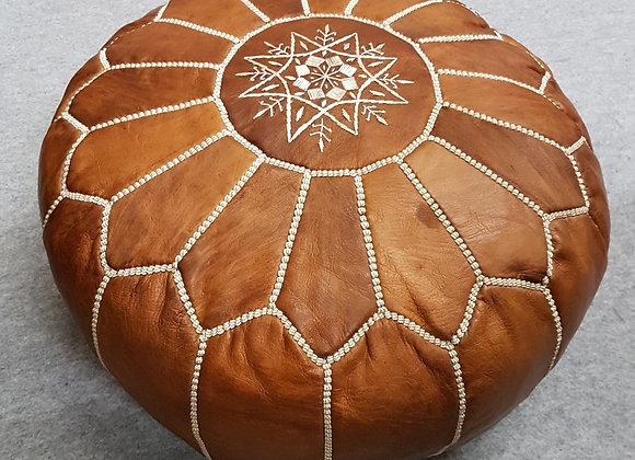 Moroccan Pouf - Brown (2)