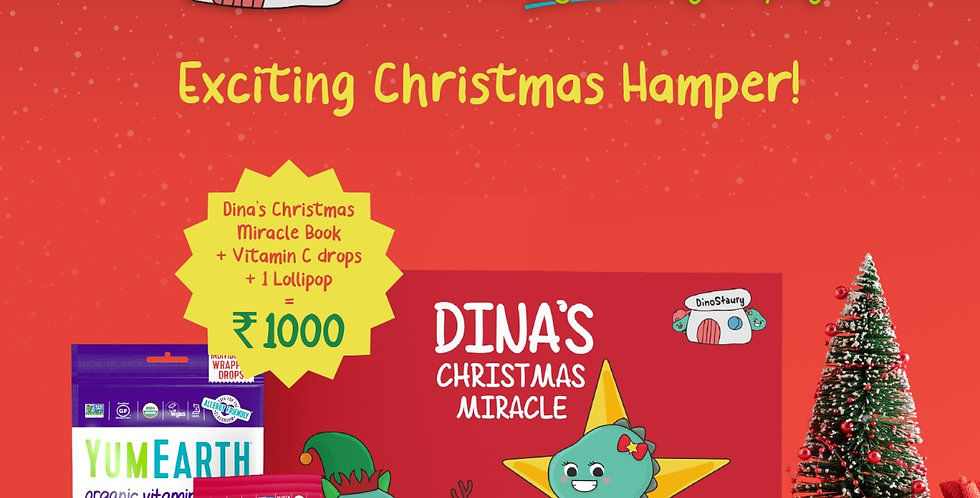 PREMIUM DELICIOUS CHRISTMAS HAMPER WITH YUMEARTH GOODIES