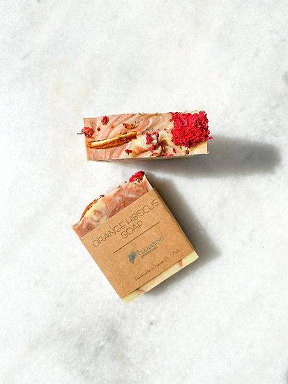 Orange Hibiscus Soap