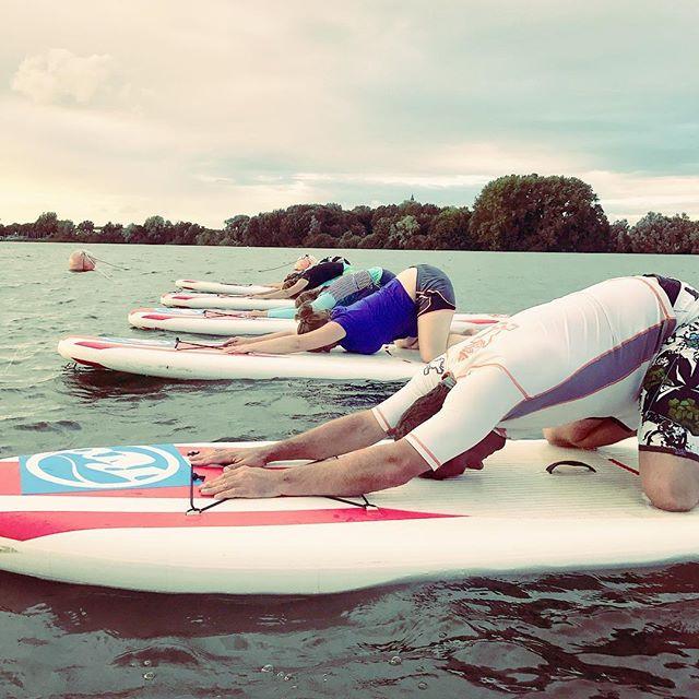#supyogabelgië #supyogabelgium #summer #childpose #chillax #seawag _hazewinkel_windsurfing_vzw _floatingstudiobelgium _tim_claus