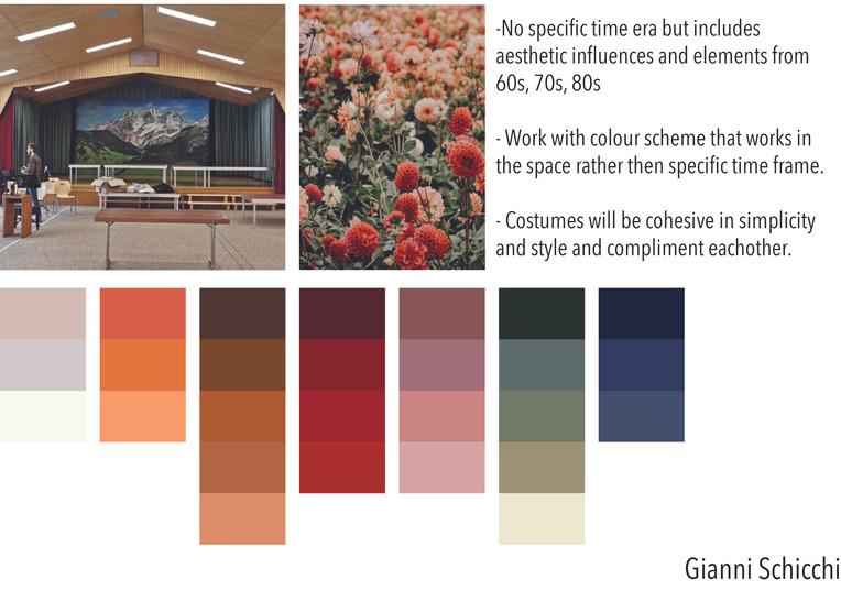 Gianni Schicchi Colour Mood Board - 2021
