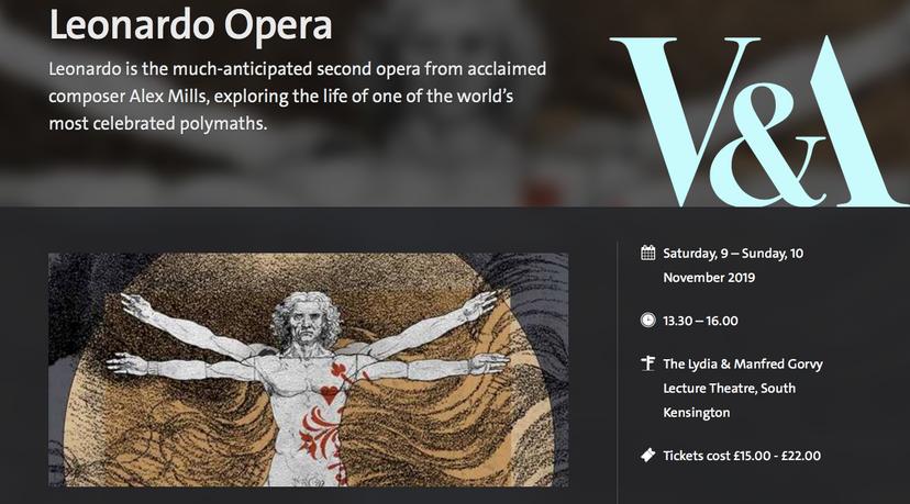Leonardo Opera Victoria and Albert Museum