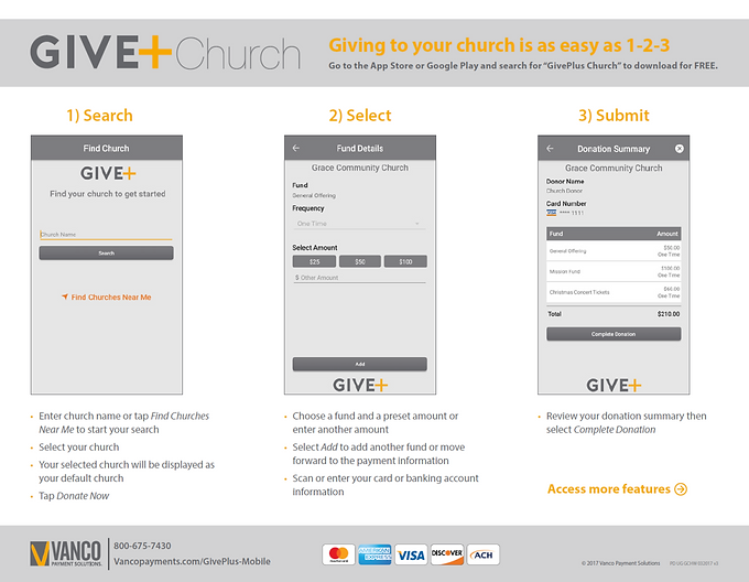GIVE+ Church instruction