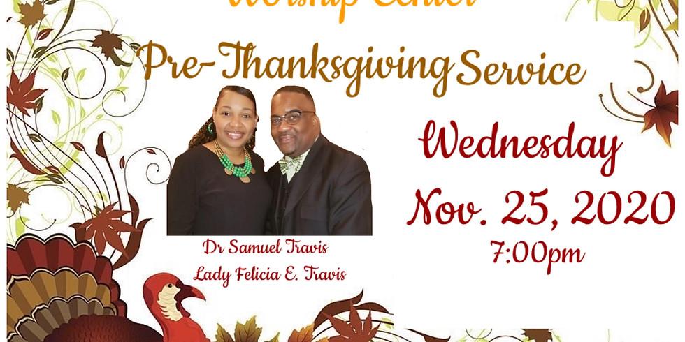 Pre-Thanksgiving Service