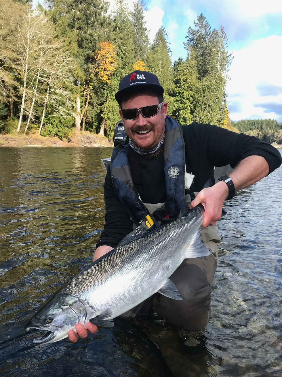 Catching Salmon on the River