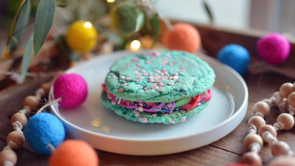 Mermaid Funfetti Cookie Sandwich