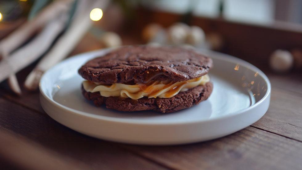 Brownie Butterbeer Cookie Sandwich