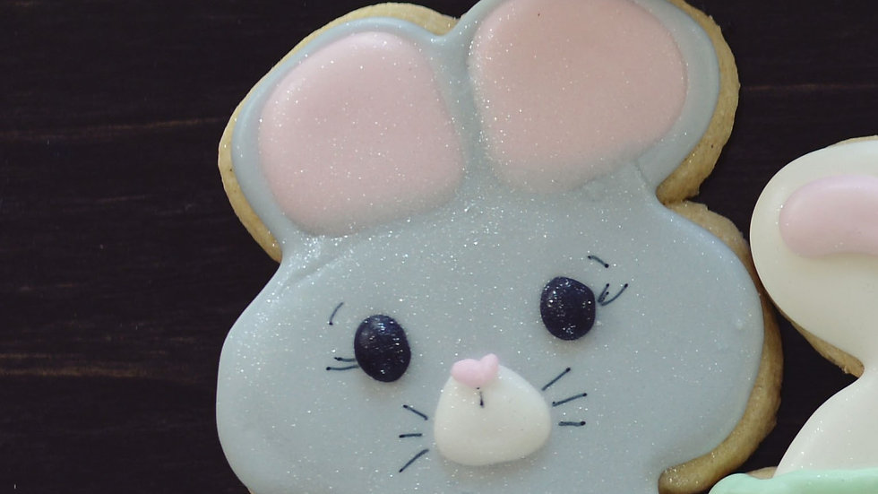 Grey Bunny Cookies
