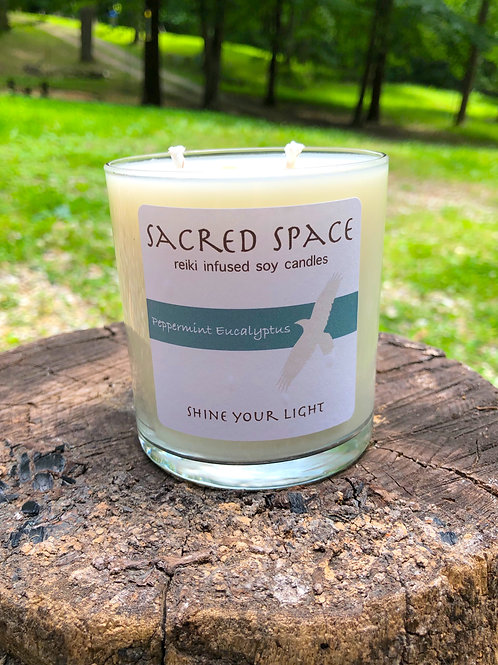 Sacred Space Soy Candle - Peppermint Eucalyptus