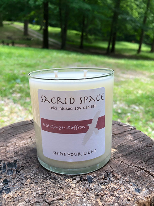 Sacred Space Soy Candle - Red Ginger Saffron