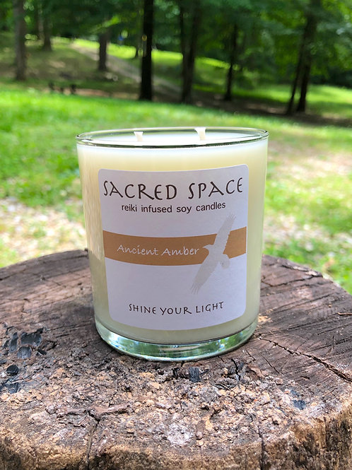 Sacred Space Soy Candle - Ancient Amber