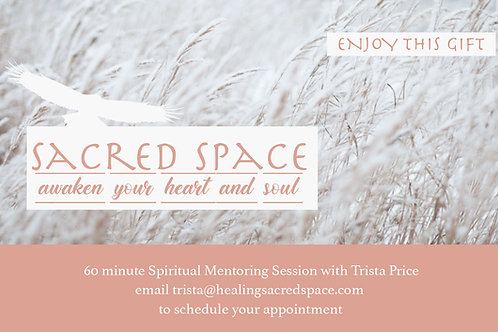 60 Minute Spiritual Mentoring Session Gift Certificate