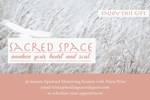 30 Minute Spiritual Mentoring Session Gift Certificate