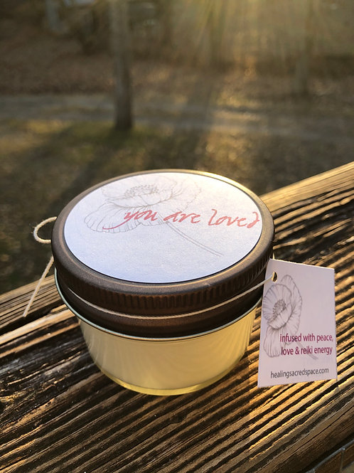 You Are Loved - Reiki Infused Soy Candle