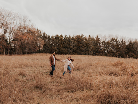 Omaha Engagement Session Photos at Chalco