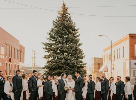 Christmas Wedding in West Point, Nebraska