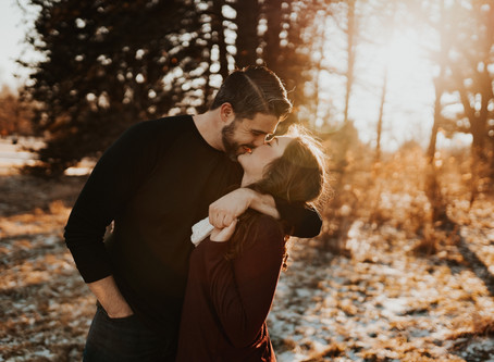 ENGAGEMENT SESSION AT PIONEERS PARK IN LINCOLN NEBRASKA