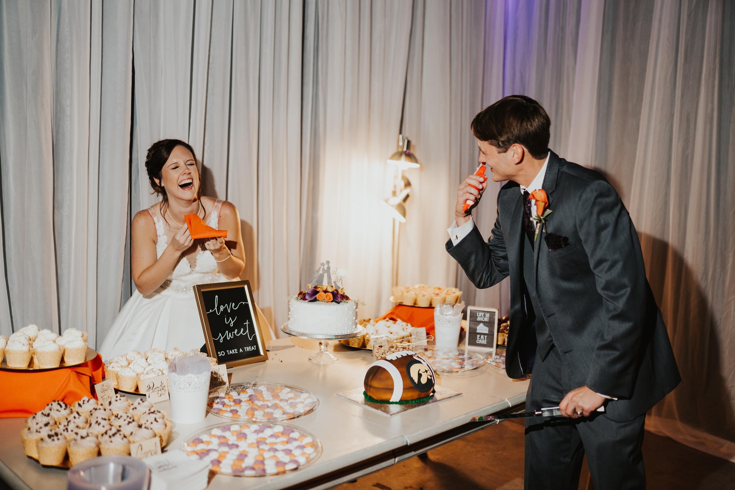 wedding reception at the diamond room in omaha
