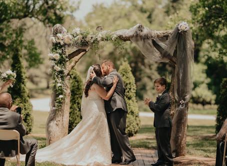 Coronavirus Wedding at Country Pines in Lincoln, Nebraska