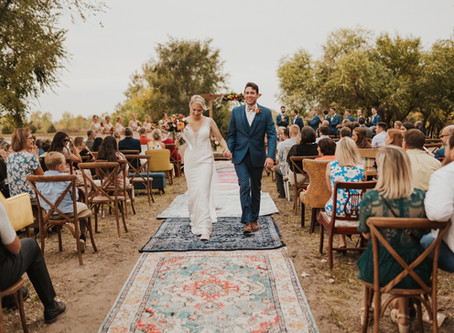 Boho Chic Eclectic Wedding in Omaha, NE With Tent Reception