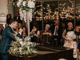 WINTER WEDDING IN OMAHA - RECEPTION AT EMPIRE ROOM