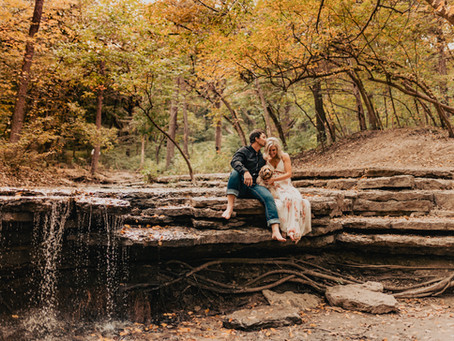 Platte River State Park Engagement Session With A Puppy