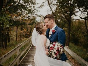 Fall Wedding at Wishing Hills Barn in Iowa
